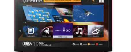Nowy dekoder DVB-T Manty z obsługą HbbTV, oraz platformą interaktywną SMART TV