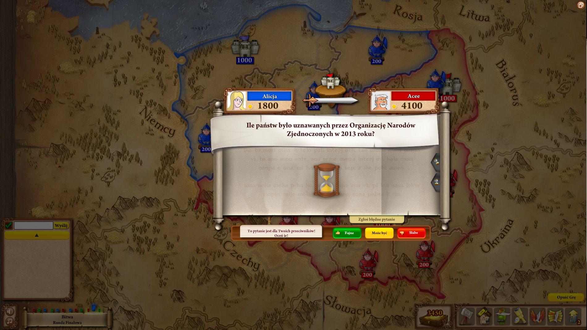 Triviador - atakuj przeciwników i broń swojego zamku!