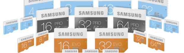 Samsung wprowadza nową serię kart pamięci PRO, EVO i Standard
